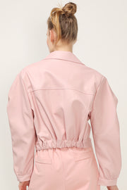 storets.com Leah Cropped Pleather Jacket