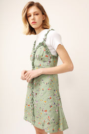 Mia Ruffle Trim Floral Dress
