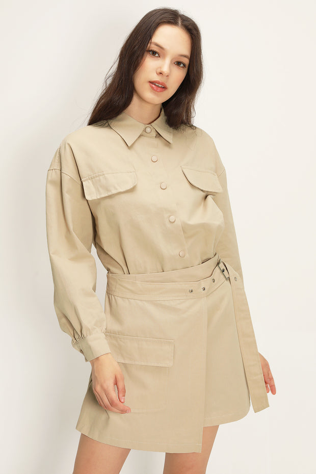 Joyce Shirt And Wrap Skirt Set