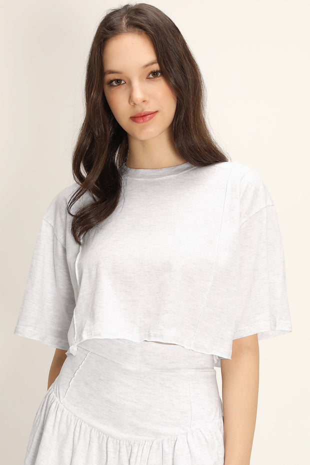 storets.com Hailee Raw Edge Crop T-shirt
