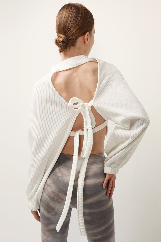 storets.com Terry Open Back Crop Top