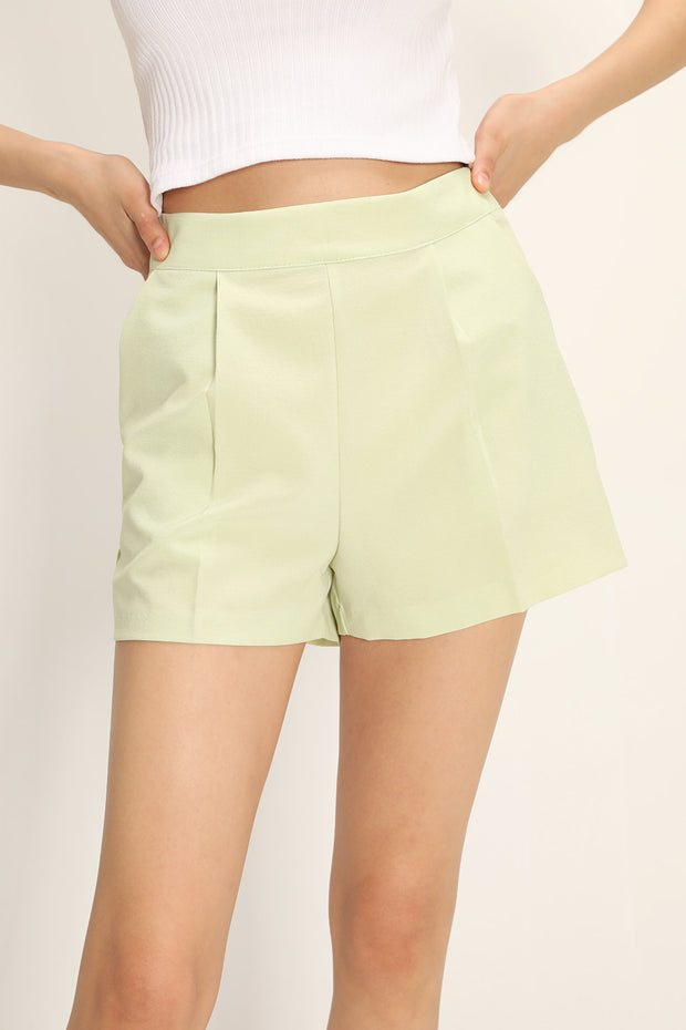 Chandler Pintucked Shorts