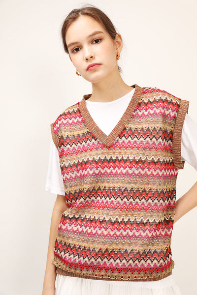 Faye Oversized Knitted Vest
