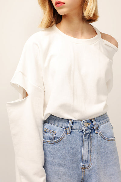 Lydia Cutout Sleeve Sweatshirt