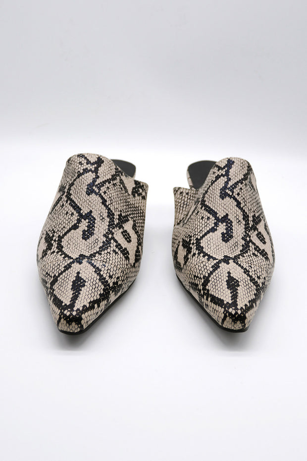 storets.com Snake Printed Pleather Slippers