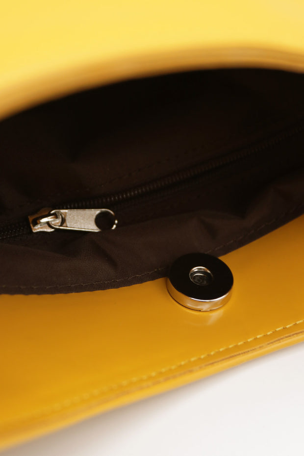 Pleather Shine Shoulder Bag
