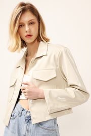 Madison Pleather Cropped Jacket
