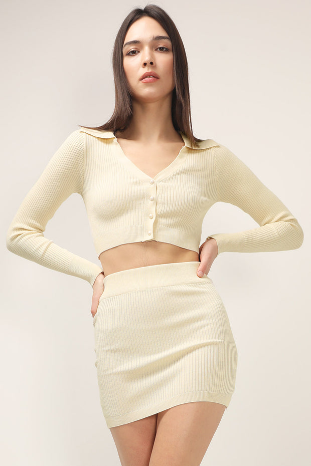 storets.com Dayana Knit Top And Skirt Set