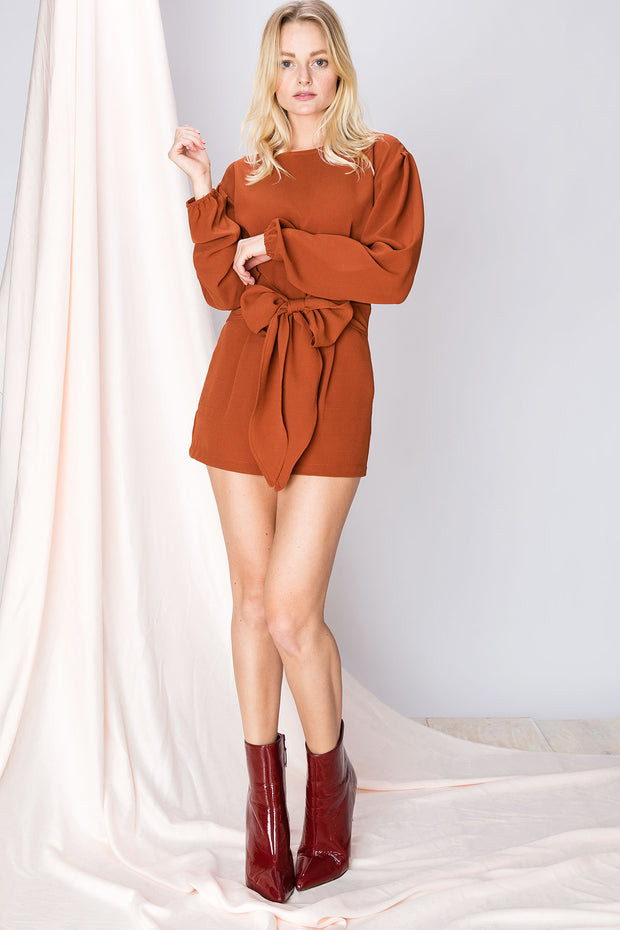 Blake Gathered Sash Romper-2 Colors