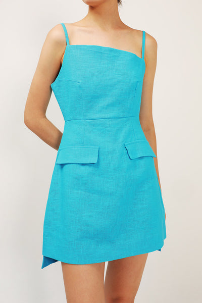 Nola Asymmetric Neck Dress