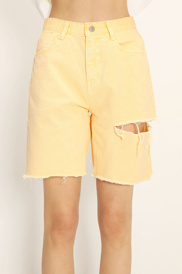 storets.com Karlee Slash Color Denim Shorts