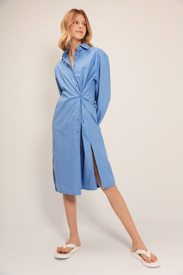 storets.com Maria Ruched Shirt Dress