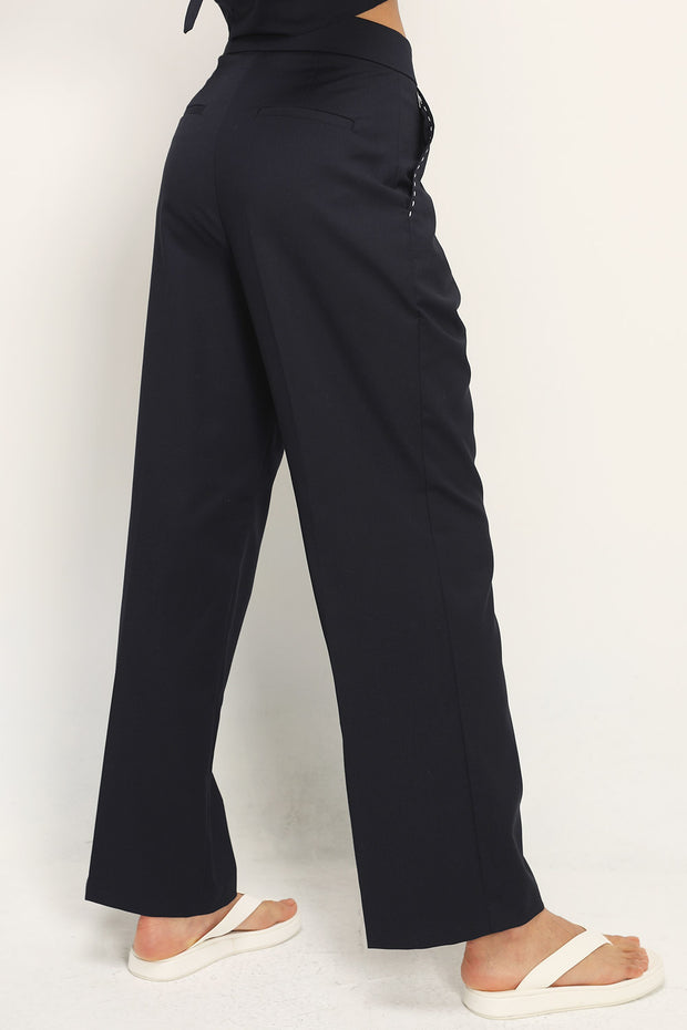 storets.com Alessandra Stitch Detailed Pintuck Pants
