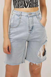 Freya Ripped Cutout Shorts