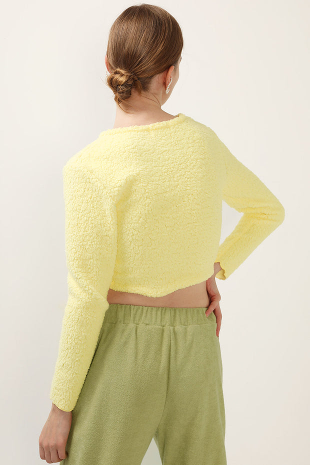 storets.com Anna Boucle Cropped Cardigan