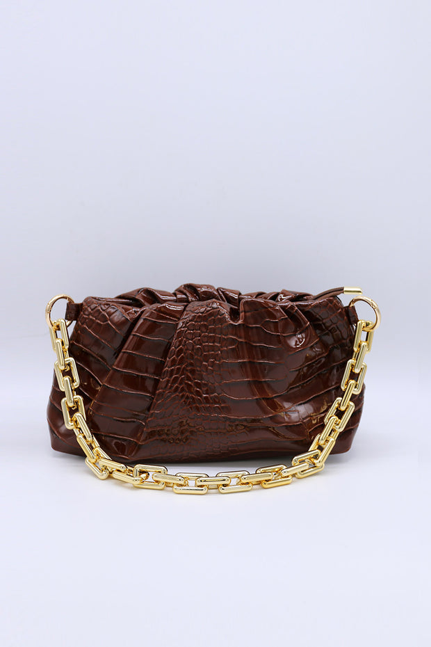 storets.com Chain Croc Purse Bag