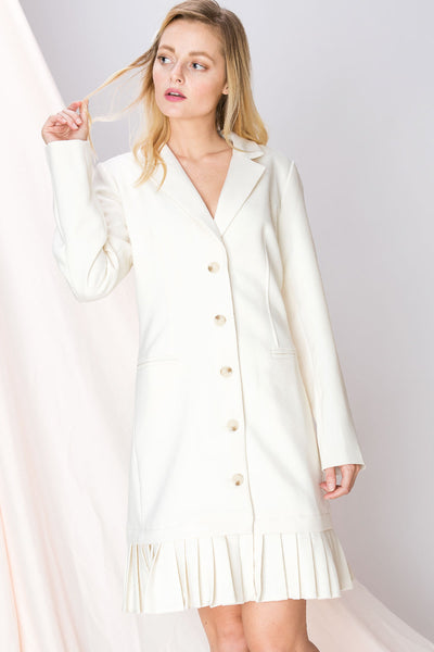 Kaya Pleated Blazer Dress