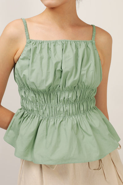 storets.com Hazel Smocked Sleeveless Top