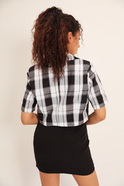 storets.com Lauren Plaid Cropped Jacket