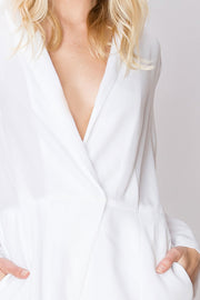 storets.com Mina Crossed V-Neck Romper-2 Colors