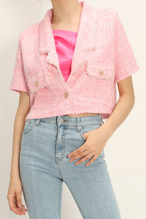 storets.com Noor Tweed Cropped Jacket