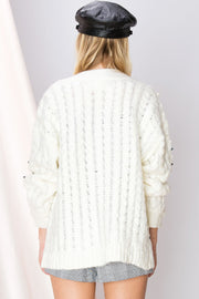 Jana Beads Knit Sweater