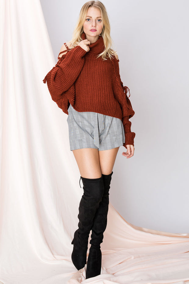 storets.com Eileen Open Turtleneck Sweater-2 Colors