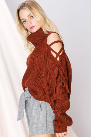 Eileen Open Turtleneck Sweater-2 Colors