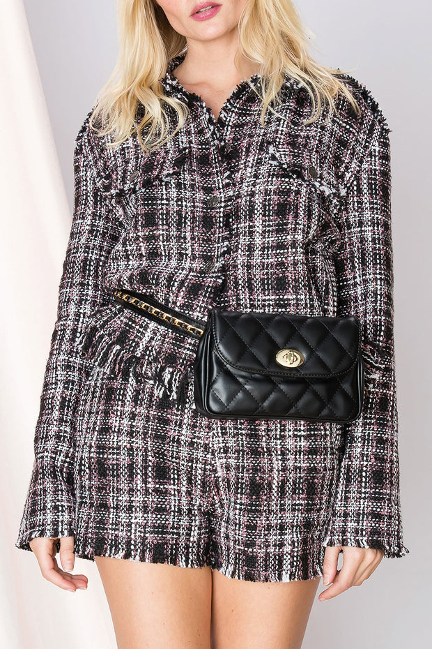 storets.com Helena Plaid Fringed Jacket