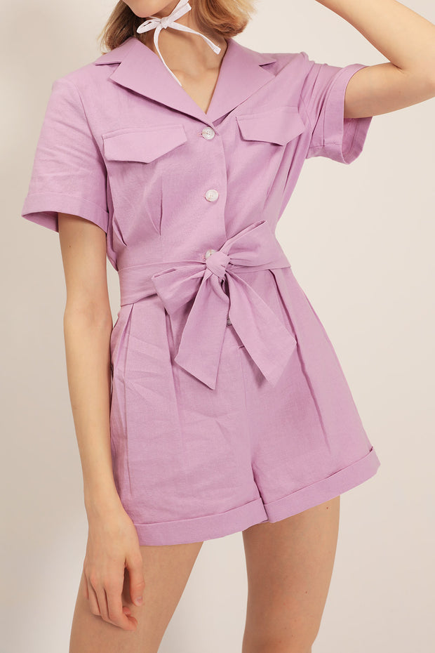 storets.com Khloe Notch Collar Romper