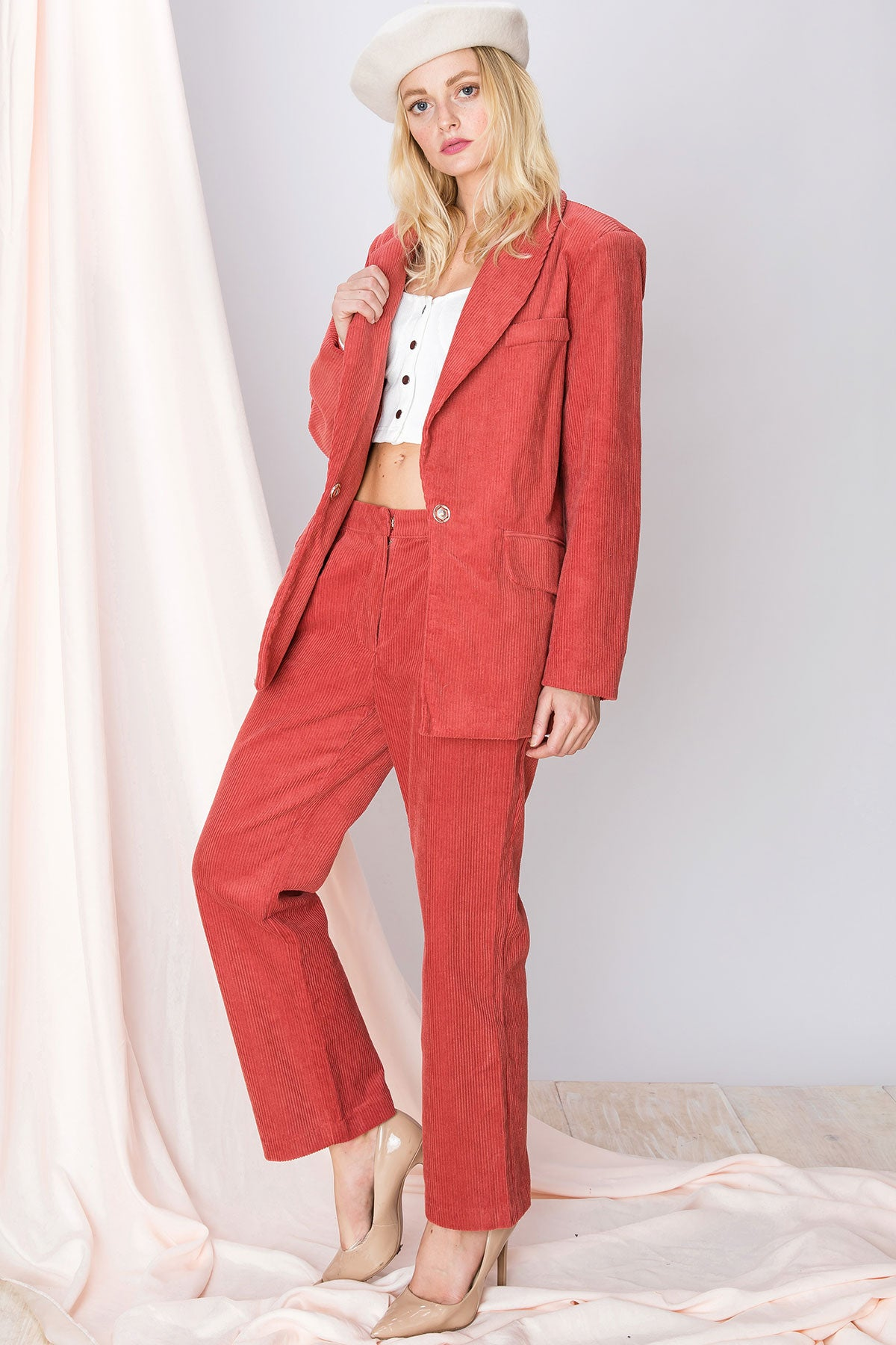 Solie Corduroy Jacket and Pant Set