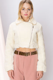 Katrina Cropped Teddy Jacket-3 Colors