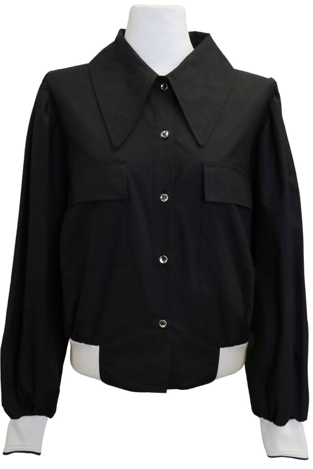 Madilyn Collar Accent Shirt