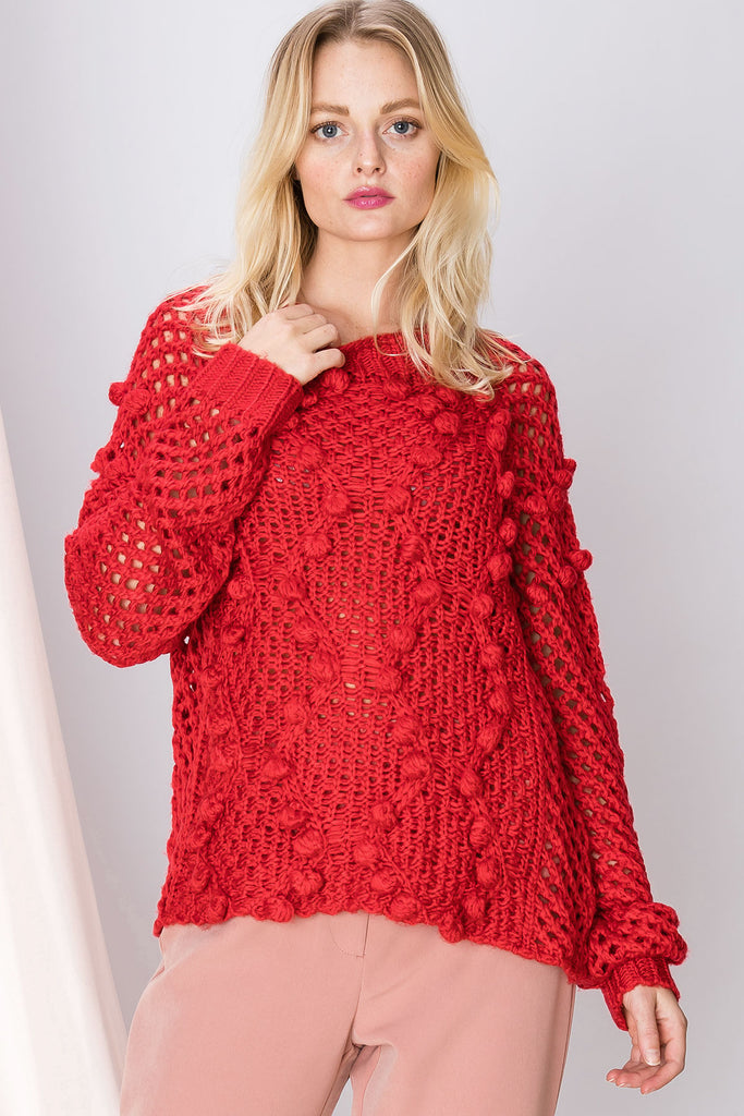 Libby Texture Netted Sweater
