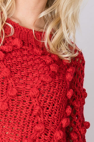 Libby Texture Netted Sweater-2 Colors