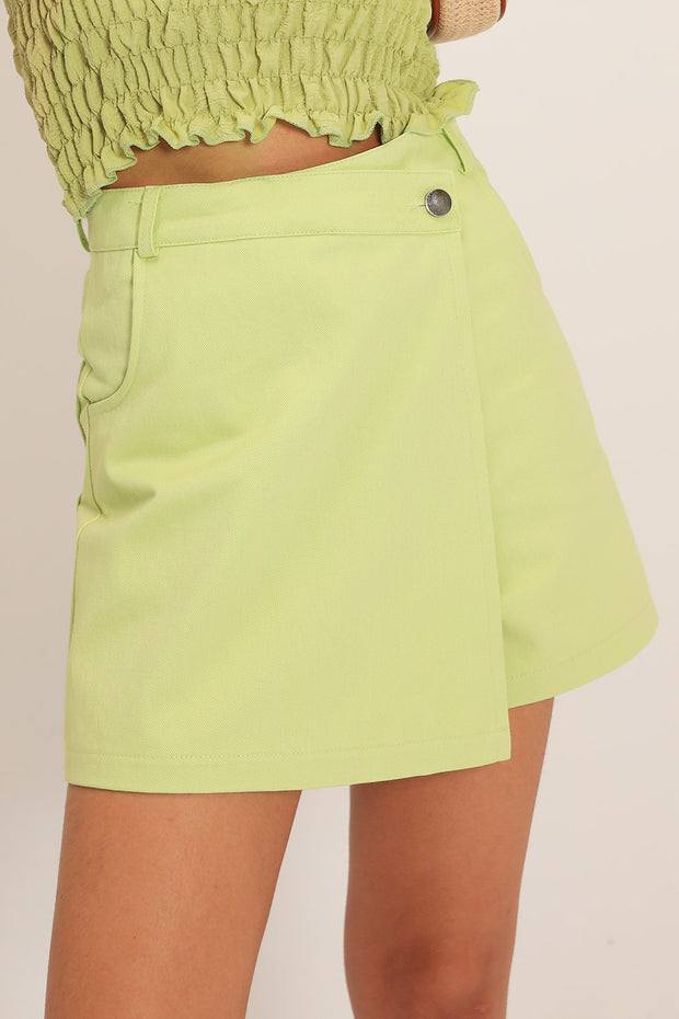 storets.com Jane Wrap Effect Shorts