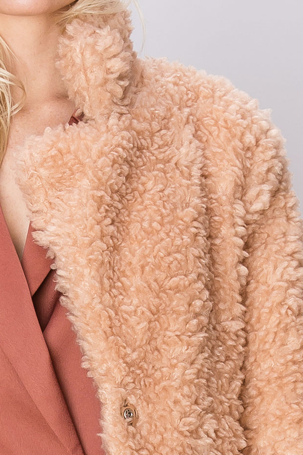 storets.com Courtney Long Fuzzy Jacket
