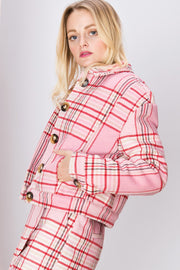 storets.com Claire Plaid Buttoned Jacket