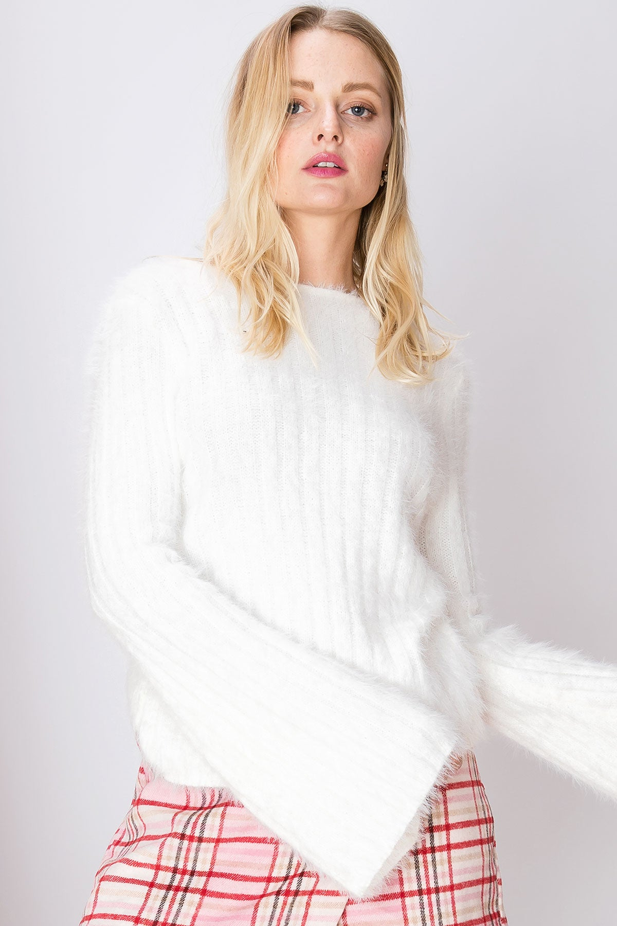 Frannie Twisted Fuzzy Sweater