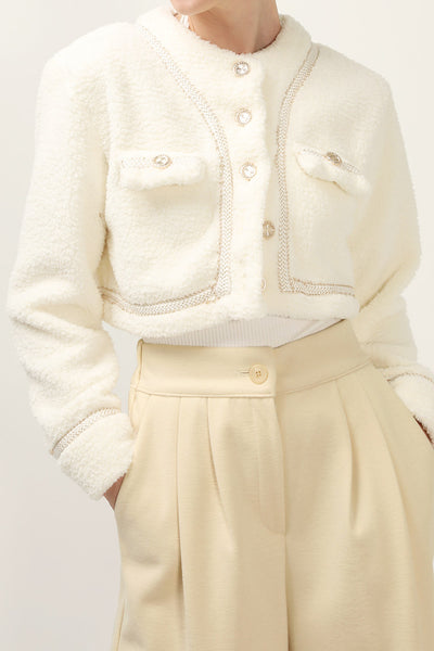 storets.com Alice Fuzzy Crop Jacket