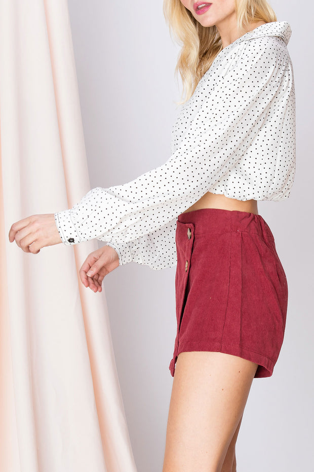 Tess Dotty Collared Blouse