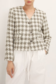 storets.com Alaina Houndstooth Tweed Jacket