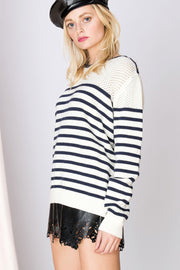 Kayla Striped Net Sweater