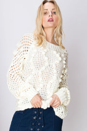 storets.com Libby Texture Netted Sweater-2 Colors