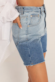 Kendall Gradient Denim Shorts