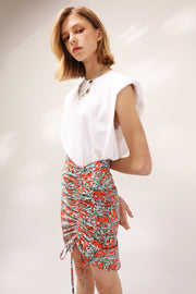 Alexis Ruched Floral Skirt