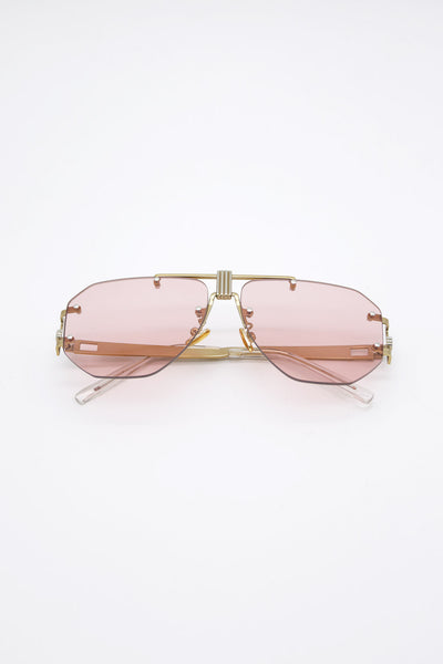 storets.com Frameless Hexagonal Sunglasses