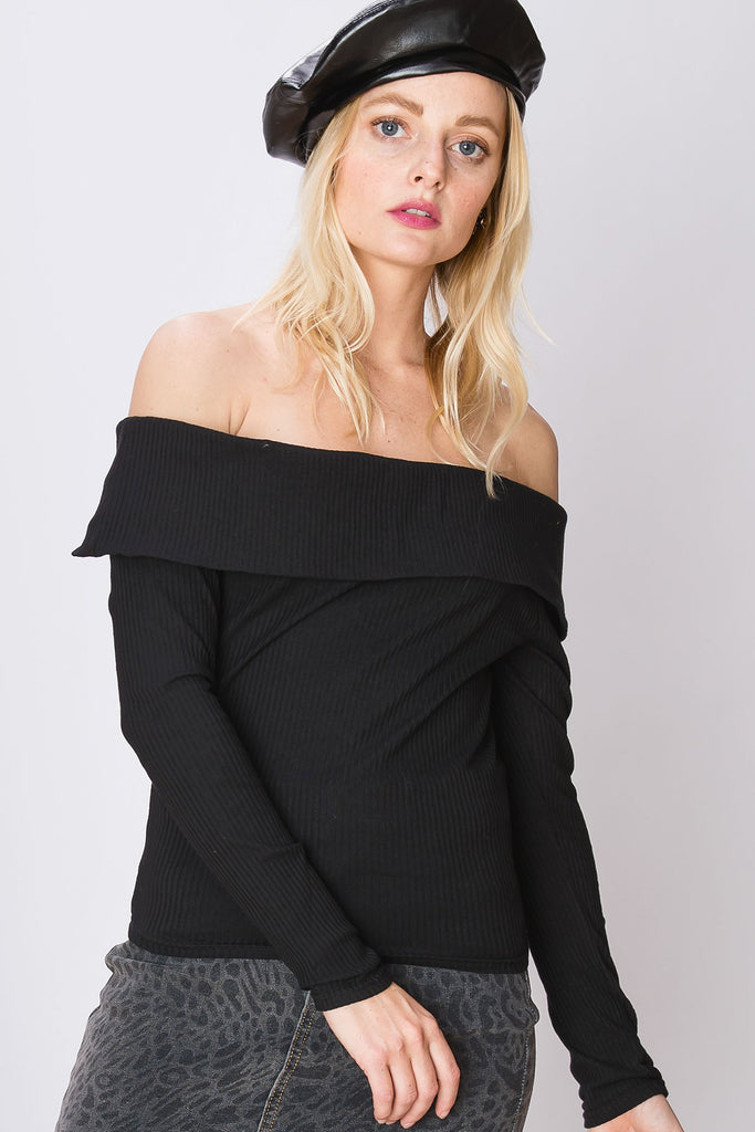 Mira Snug Off The Shoulder Top-2 Colors