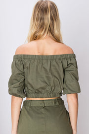 Angelina Cargo Crop Top
