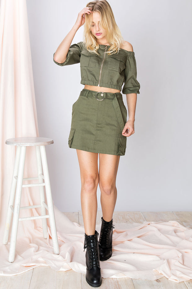 Angelina Cargo Skirt